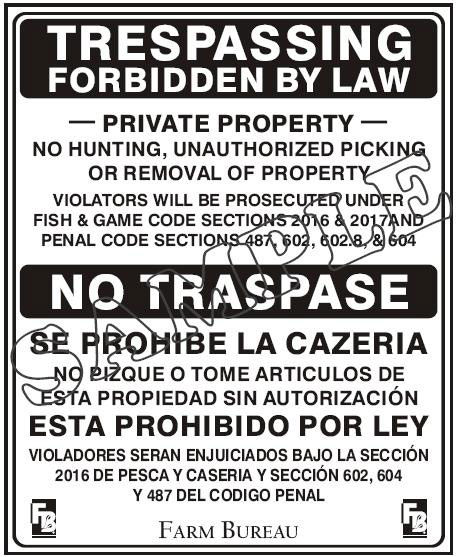 No Trespassing English/Spanish